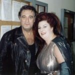 Eva together with Placido Domingo